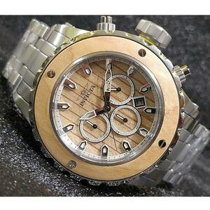 1 LEFT IN STOCK-Invicta Subaqua wooden watch